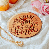 Mothers Day Card from Son, Personalized Gift, Wooden Card,