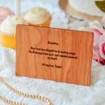 Grandma Gift, Grandmother Gift, Mothers Day Card, Wooden Card,