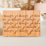 Anniversary Card for Husband, Wooden Card, 5 Year Anniversary Card,