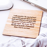 1st Anniversary Card, Anniversary Gift for Wife, Anniversary Card for Husband, Wooden Gift Cards