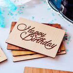 Birthday Card for Son, Wood Greeting Card, Birthday Cards Son,