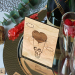 50th Anniversary Gifts for Parents, 50th Wedding Anniversary Gifts, 1st Wedding Anniversary Card, Hot Air Balloon Wood,