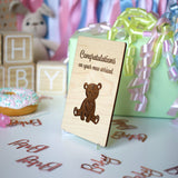 New Baby Family Gift, New Parent Gift, New Baby Card, Wood Greeting Card,