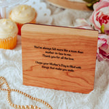 Mothers Day Card, Wood Card, Personalized Gift for Mom,