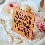 Lesbian Moms, Happy Mothers Day, Mothers Day Card, Wood Greeting Card,