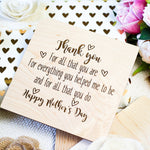 Mothers Day Card, Mothers Day Gift from Daughter, Wood Greeting Card,