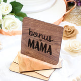 Bonus Mom Gift, Mothers Day Card, Step Mom Gift, Wooden Card,