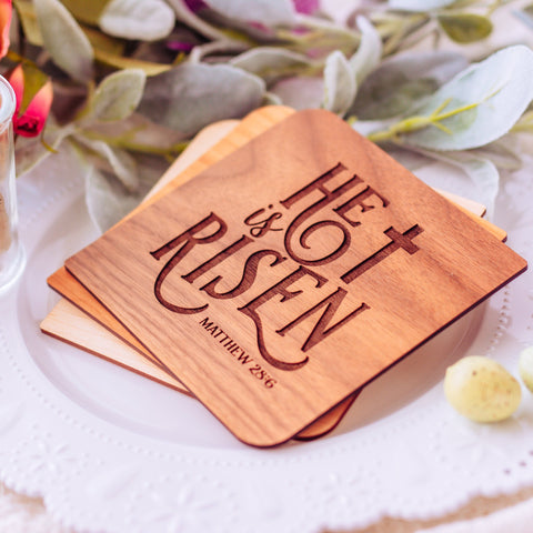 He is Risen, Bible Verse Cards, Christian Easter Cards, Christian Gifts,