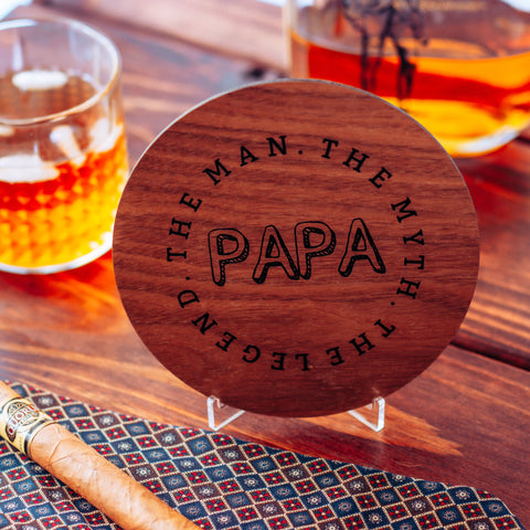 Papa The Man The Myth The Legend, Wood Greeting Card,