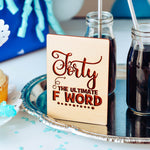 Best Friend Birthday Card, Wood Card, 40th Birthday Card Funny,