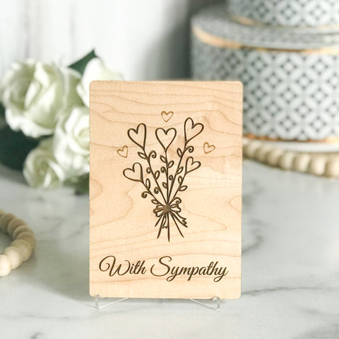 Bereavement Gifts, Baby Sympathy Card, Miscarriage Gift, Baby Loss Gift, Wood Greeting Card,