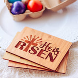 He is Risen, Christian Easter Cards, Christian Gifts, Easter Basket Stuffers,