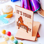 Naughty Cards for Him, Naughty Cards for Boyfriend, It's Your Birthday Card for Boyfriend, Laser Engraved Wooden Birthday Card, Flirty Card