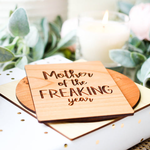 Mother in Law Mothers Day Card, Wooden Card,