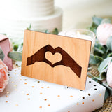 Heart Card, 5th Anniversary Gift for Him, Anniversary Card for Husband, 5 Year Wooden Anniversary Gift,