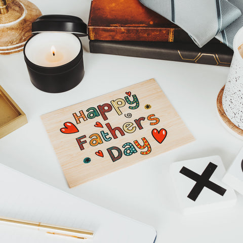 Fathers Day Gift from Daughter, Fathers Day Card, Personalized Gifts for Dad, Wood Card,