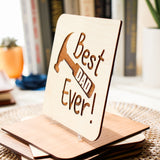 Best Dad Ever, Fathers Day Gift from Son, Fathers Day Card, Wood Card,
