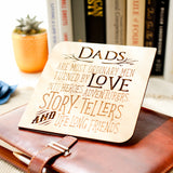 Personalized Gifts for Dad, Father's Day Gift, Fathers Day Card, Fathers Day Present, Wood Card,