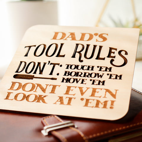 Funny Fathers Day Card, Fathers Day Gift from Son, Wooden Card,
