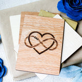 Fathers Day Gift from Kids, Fathers Day Card, Wooden Card,