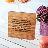 Valentine Card for Husband, Valentines Day Gift for Husband, Wood Cards,