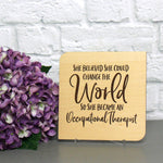 Card for Occupational Therapist with engraved personalized message / Card for OT /  Teacher Appreciation Week / Back to School
