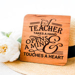 Thank You Card, Wooden Card, Personalized Card, Teacher