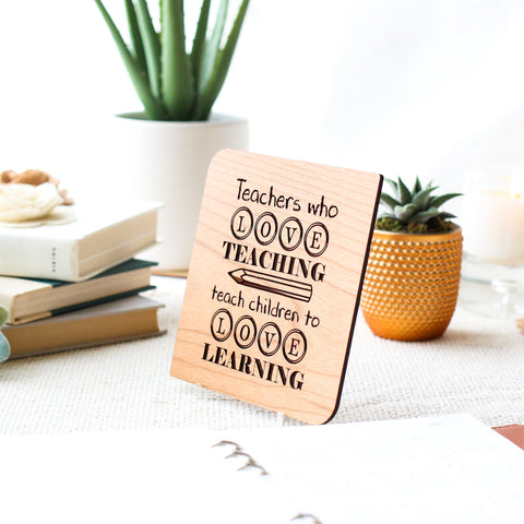 Teacher Appreciation Week, Thank You Card, Personalized Card, Wooden Card,
