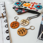 Wooden keychain / Wooden keyring / Wife-Mom-Boss / Gift for her / Gift for Mom / Gift for wife / Made from quality hardwoods