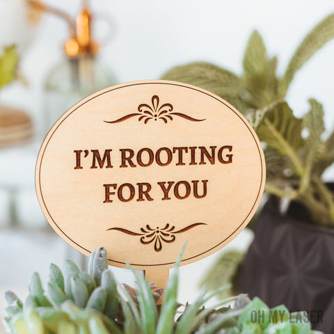 Plant Markers, Encouragement Gift, Thinking of You Gift, Motivational Cards,