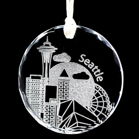 Seattle Ornament, Washington Ornament, Glass Christmas Ornaments Handmade, Christmas Tree Ornaments, Seattle,