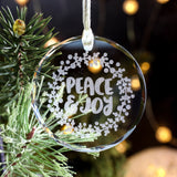 Glass Christmas Ornaments Handmade, Laser Engraved Ornament, Christmas Tree Ornaments,