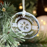 2020 Christmas Ornament, Merry Christmas, Christmas 2020, Glass Christmas Ornaments, Laser Engraved Ornament,