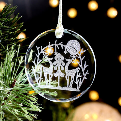 Reindeer Ornaments, Christmas Decor Reindeer, Glass Christmas Ornaments Handmade, Christmas Tree Ornaments,