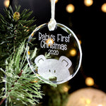 Babies First Christmas Ornament, Baby First Christmas Tree Decoration, Glass Christmas Ornaments, Baby Ornament,
