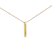 Load image into Gallery viewer, 9ct Gold Favori Bar Pendant
