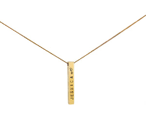 9ct Gold Favori Bar Pendant