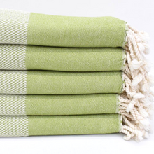 Load image into Gallery viewer, DENIZLI Turkish Bath Towels in green