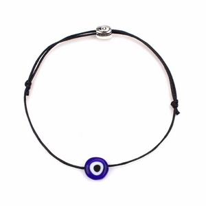 Black NAZAR Turkish Lucky Evil Eye Cord Bracelet