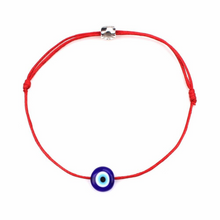 Load image into Gallery viewer, Red NAZAR Turkish Lucky Evil Eye Cord Bracelet