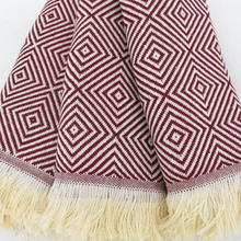 Load image into Gallery viewer, PASHA Turkish Kitchen Towels in burgundy colour