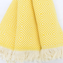 Load image into Gallery viewer, PASHA Turkish Kitchen Towels in yellow colour