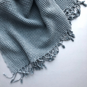 WAFFLE Turkish Towel in grey