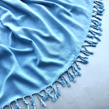 Load image into Gallery viewer, Cobalt blue ZEPHYR SHAWL Turkish Towel