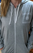Load image into Gallery viewer, Grey Bristol Hooded Zip Swearshirt