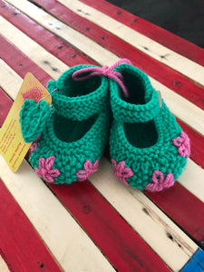 Hand Knit Baby Shoes