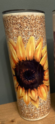 20oz Skinny Sunflower Tumbler