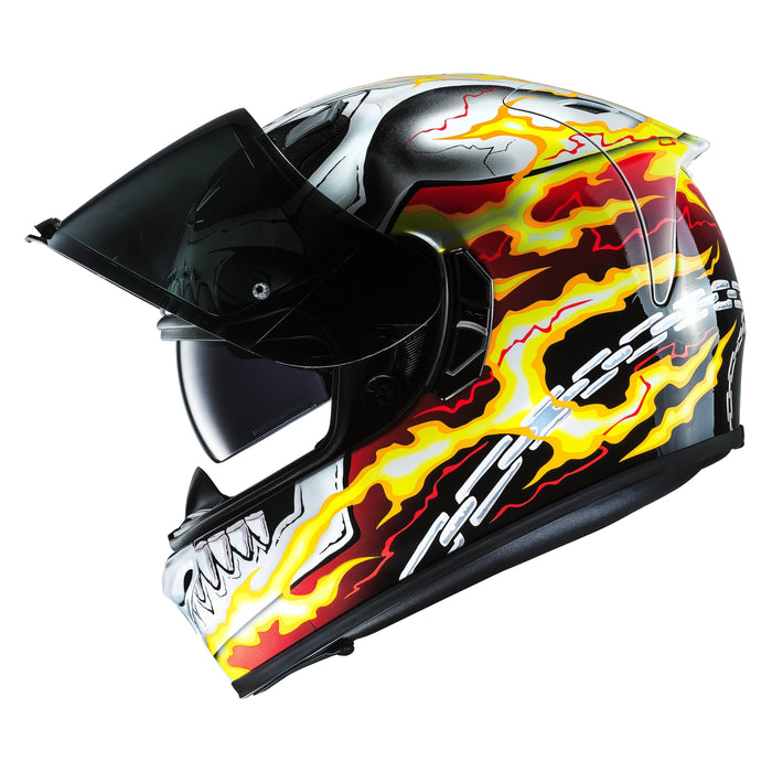 fg-st-helmet White/Red/Black - SunstateMC