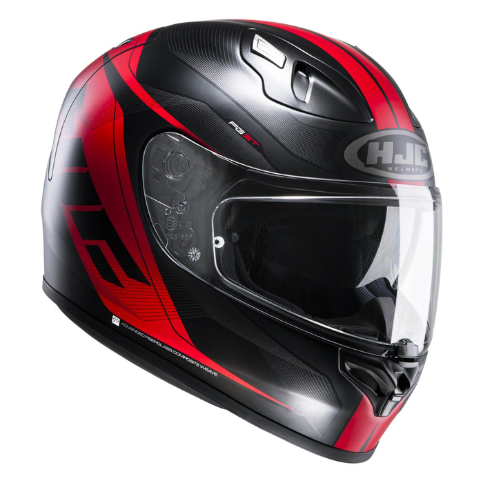 fg-st-helmet Black/Red - SunstateMC
