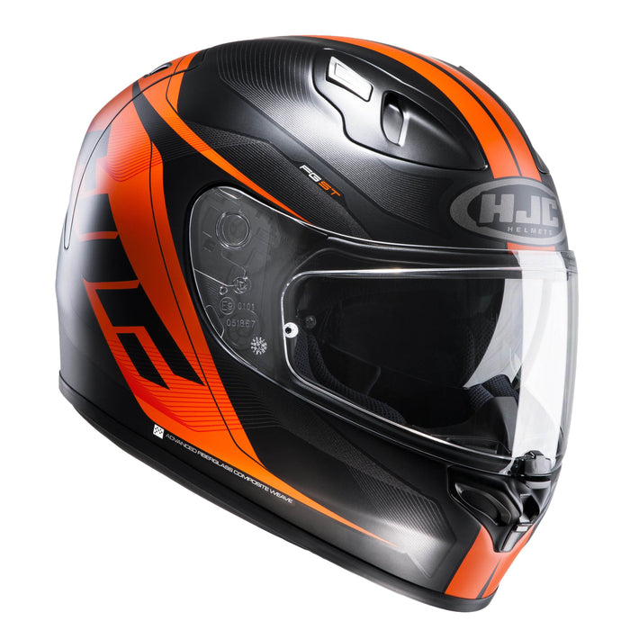 fg-st-helmet Black/Orange - SunstateMC